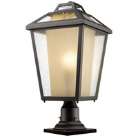 Z-Lite 532PHBR-533PM-ORB Memphis Outdoor 1 Light 22 inch Oil Rubbed Bronze Outdoor Pier Mounted Fixture