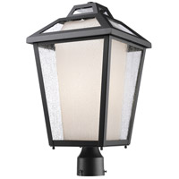 Z-Lite Memphis 1 Light Post Mount Light in Black 532PHBR-BK