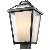 Z-Lite Memphis 1 Light Post Mount Light in Black 532PHBS-BK