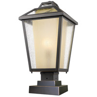 Z-Lite 532PHBS-SQPM-ORB Memphis Outdoor 1 Light 22 inch Oil Rubbed Bronze Outdoor Pier Mounted Fixture