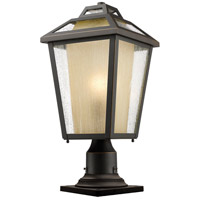 Z-Lite Memphis 1 Light Pier Mount Light in Oil Rubbed Bronze 532PHMR-533PM-ORB