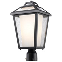 Z-Lite Memphis 1 Light Post Mount Light in Black 532PHMR-BK