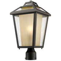 Z-Lite Memphis 1 Light Post Mount Light in Oil Rubbed Bronze 532PHMR-ORB