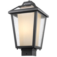 Z-Lite Memphis 1 Light Post Mount Light in Black 532PHMS-BK