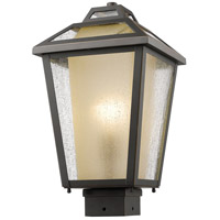 Z-Lite Memphis 1 Light Post Mount Light in Oil Rubbed Bronze 532PHMS-ORB