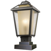 Z-Lite 532PHMS-SQPM-ORB Memphis Outdoor 1 Light 19 inch Oil Rubbed Bronze Outdoor Pier Mounted Fixture