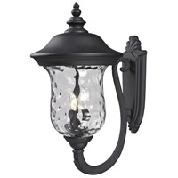 Armstrong 3 Light 24 inch Black Outdoor Wall Sconce
