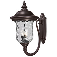 Z-Lite Armstrong 3 Light Outdoor Wall Light in Bronze 533B-RBRZ