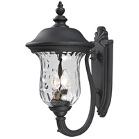 Z-Lite Armstrong 2 Light Outdoor Wall Light in Black 533M-BK