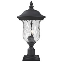 Z-Lite 533PHB-533PM-BK Armstrong 3 Light 26 inch Black Outdoor Post Light