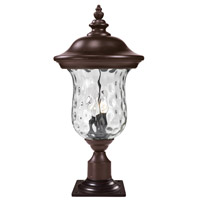 Z-Lite 533PHB-533PM-RBRZ Armstrong 3 Light 26 inch Bronze Outdoor Post Light