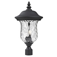 Z-Lite Armstrong 3 Light Outdoor Post Light in Black 533PHB-BK