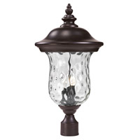 Z-Lite Armstrong 3 Light Outdoor Post Light in Bronze 533PHB-RBRZ