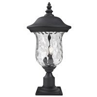 Armstrong 2 Light 23 inch Black Outdoor Pier Mounted Fixture