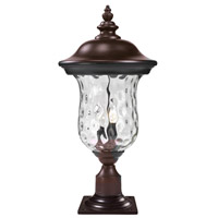 Z-Lite 533PHM-533PM-RBRZ Armstrong 2 Light 23 inch Bronze Outdoor Post Light