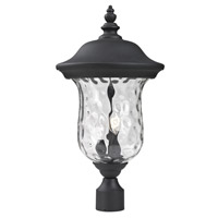 Armstrong 2 Light 21 inch Black Outdoor Post