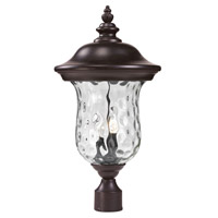 Z-Lite Armstrong 2 Light Outdoor Post Light in Black 533PHM-BK