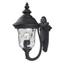 Armstrong 2 Light 16 inch Black Outdoor Wall Light