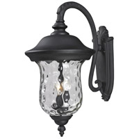 Z-Lite Armstrong 3 Light Outdoor Wall Light in Black 534B-BK