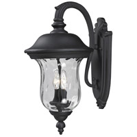 Z-Lite Armstrong 2 Light Outdoor Wall Light in Black 534M-BK