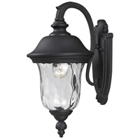 Z-Lite Armstrong 1 Light Outdoor Wall Light in Black 534S-BK