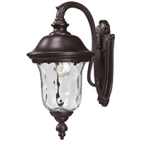 Z-Lite Armstrong 1 Light Outdoor Wall Light in Bronze 534S-RBRZ