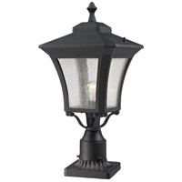 Z-Lite 535PHM-BK-PM Waterdown 1 Light 26 inch Sand Black Outdoor Pier Mounted Fixture