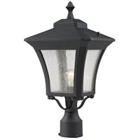 Z-Lite 535PHM-BK Waterdown 1 Light 19 inch Sand Black Post Mount Light