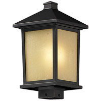 Z-Lite 537PHB-ORB Holbrook 1 Light 17 inch Oil Rubbed Bronze Outdoor Post Mount Fixture in Tinted Seedy Glass