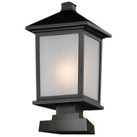 Z-Lite 537PHB-SQPM-BK Holbrook 1 Light 20 inch Black Outdoor Post