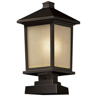 Z-Lite Holbrook 1 Light Outdoor Pier Mount Light in Oil Rubbed Bronze 537PHB-SQPM-ORB
