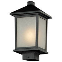 Z-Lite Holbrook 1 Light Outdoor Post Light in Black 537PHM-BK
