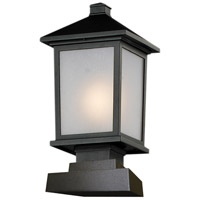 Z-Lite Holbrook 1 Light Outdoor Pier Mount Light in Black 537PHM-SQPM-BK