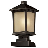 Z-Lite 537PHM-SQPM-ORB Holbrook 1 Light 17 inch Oil Rubbed Bronze Outdoor Post