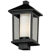 Z-Lite Mesa 1 Light Outdoor Post Light in Black 538PHB-BK