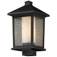 Z-Lite 538PHB-ORB Mesa 1 Light 17 inch Oil Rubbed Bronze Outdoor Post Mount Fixture in Clear Seedy Outside Matte Opal Inside Glass