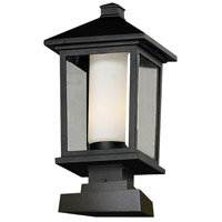 Z-Lite Mesa 1 Light Outdoor Pier Mount Light in Black 538PHB-SQPM-BK