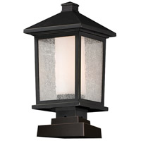 Z-Lite Mesa 1 Light Outdoor Pier Mount Light in Oil Rubbed Bronze 538PHB-SQPM-ORB