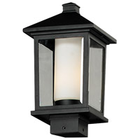 Z-Lite Mesa 1 Light Outdoor Post Light in Black 538PHM-BK