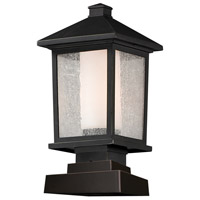 Z-Lite 538PHM-SQPM-ORB Mesa 1 Light 17 inch Oil Rubbed Bronze Outdoor Pier Mount