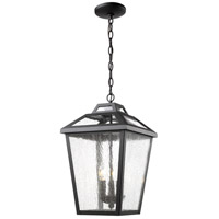 Z-Lite 539CHB-BK Bayland 3 Light 11 inch Black Outdoor Chain Mount Ceiling Fixture