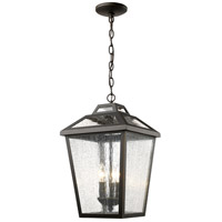 Bayland 3 Light 11 inch Oil Rubbed Bronze Outdoor Chain Light