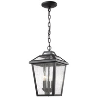 Z-Lite 539CHM-BK Bayland 3 Light 9 inch Black Outdoor Chain Mount Ceiling Fixture