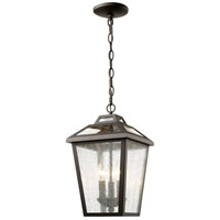 Z-Lite 539CHM-ORB Bayland 3 Light 9 inch Oil Rubbed Bronze Outdoor Chain Mount Ceiling Fixture