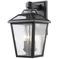 Bayland 3 Light 17 inch Black Outdoor Wall Sconce