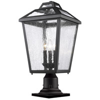 Z-Lite 539PHBR-533PM-BK Bayland 3 Light 22 inch Black Outdoor Pier Mounted Fixture