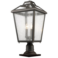 Bayland 3 Light 22 inch Oil Rubbed Bronze Outdoor Pier Mount
