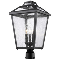 Z-Lite 539PHBR-BK Bayland 3 Light 21 inch Black Outdoor Post Mount Fixture photo thumbnail