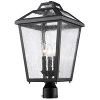 Z-Lite Bayland 3 Light Post Mount Light in Black 539PHBR-BK