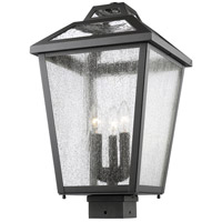 Z-Lite 539PHBS-BK Bayland 3 Light 19 inch Black Post Mount Light
